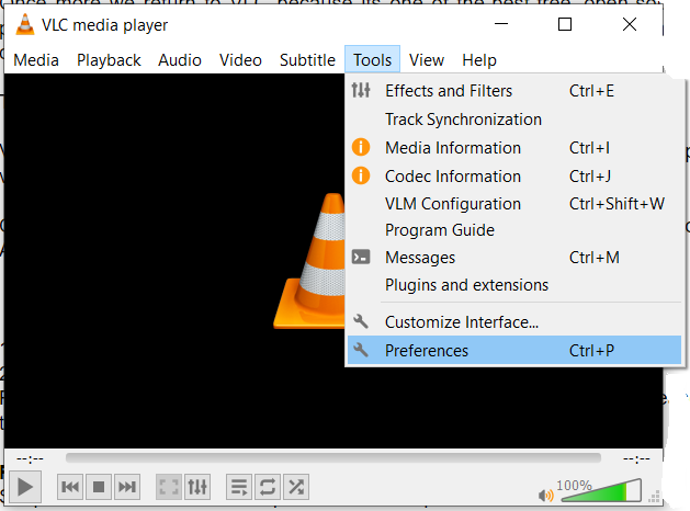 Select Preferences in the Tools tab