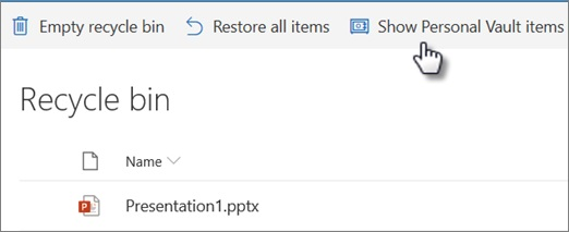 onedrive file recovery from recycle bin