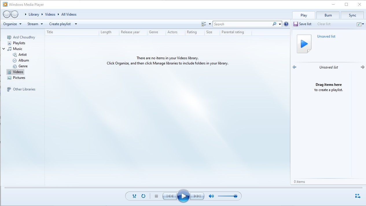 windows media player not playing
