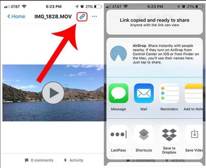 fix blurry videos with dropbox
