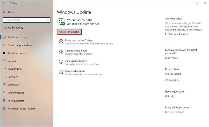 windows updates for drivers