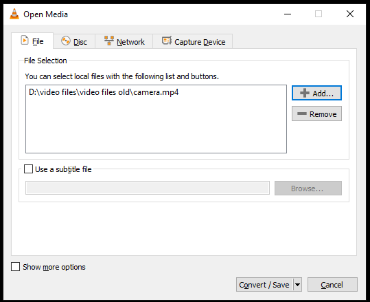 load-the-damaged-video-file
