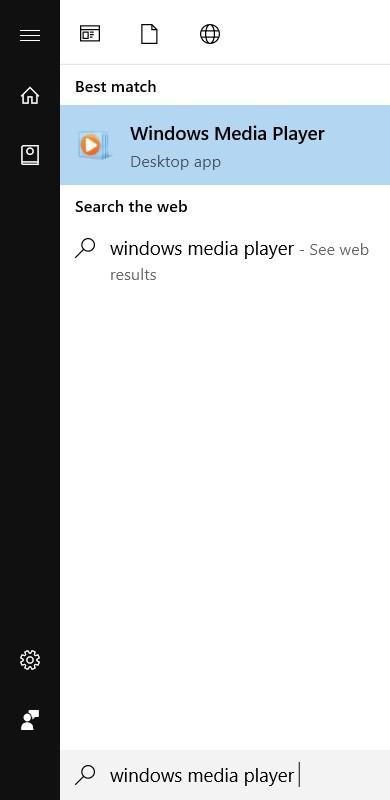 start windows media player