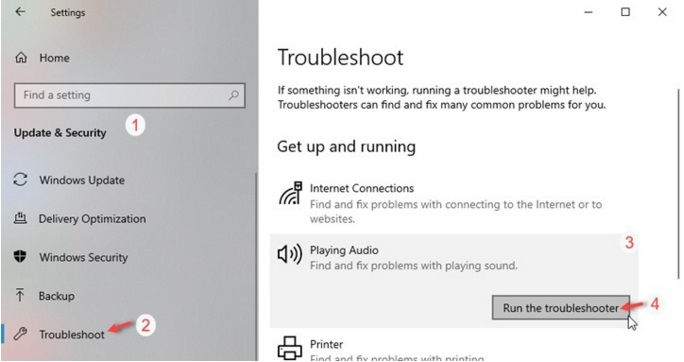 How to run Window Troubleshooter