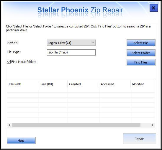 Stellar Zip repair