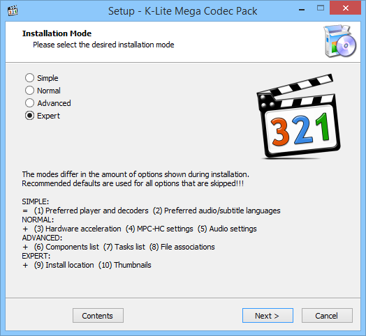 setup codec pack for repairing videos