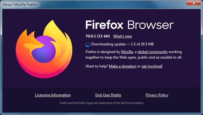 mozilla firefox update