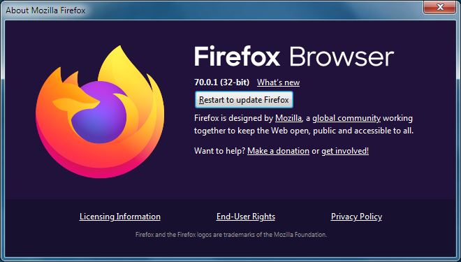 restart Firefox for videos playing