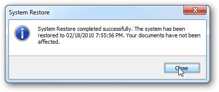 system restore solution