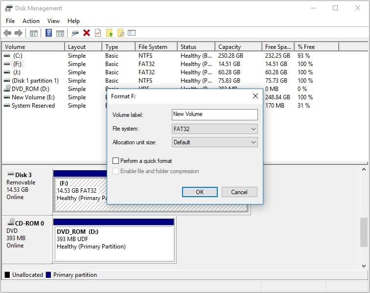 format 128gb usb flash drive to fat32 4