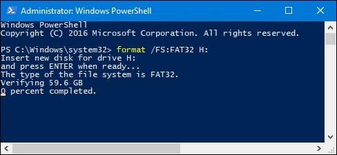 format 128gb usb flash drive to fat32 7