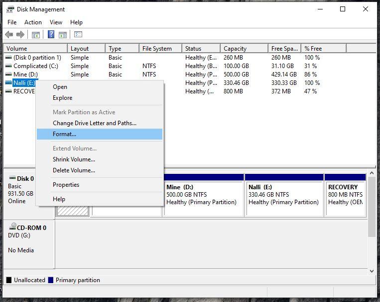 format a kingston flash drive 1