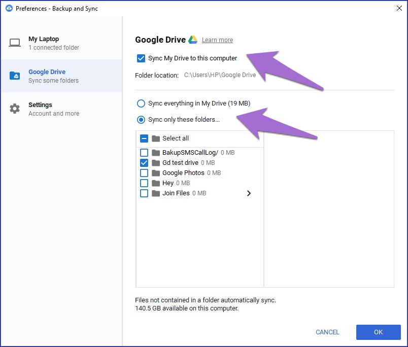google backup and sync 1