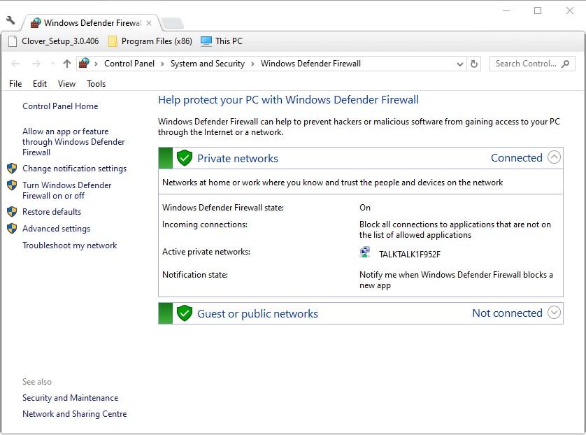 turn off windows defender firewall 1