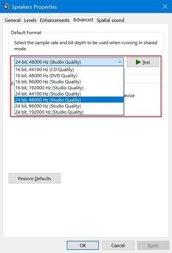 audio not working windows 10 11
