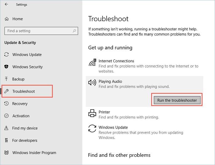 audio not working windows 10 6