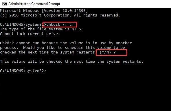 check disk errors 2
