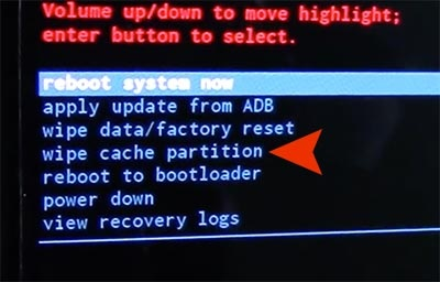 clear cache partition in recovery mode photo 2