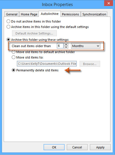 delete older emails