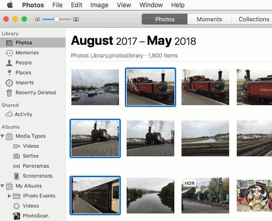 find photos using the photos app