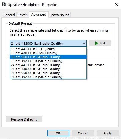 dell audio not working 4