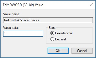 disable low disk space warning image 1