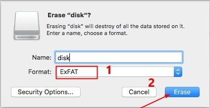 Erasing disk will destroy all the data stored on it