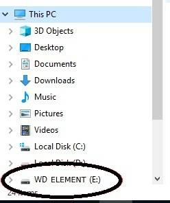 Connect the hard disk to computer