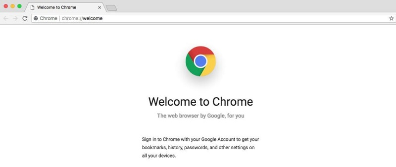 Google Chrome on mac