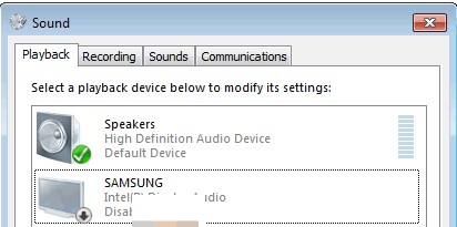 hdmi audio not working 1