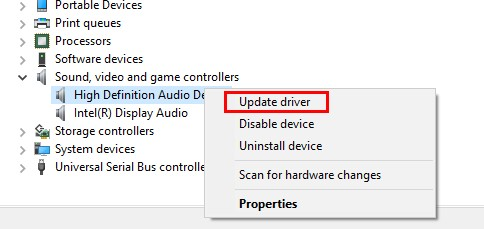 hdmi audio not working 2