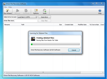 image orion file recovery software 7