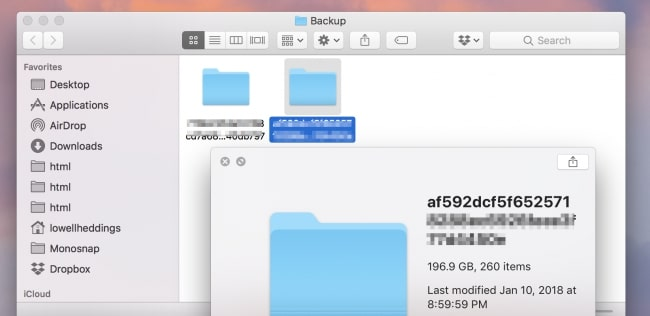 iTunes backup clear up