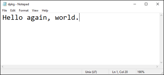 notepad text editor