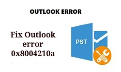 outlook error 0x8004210a 1
