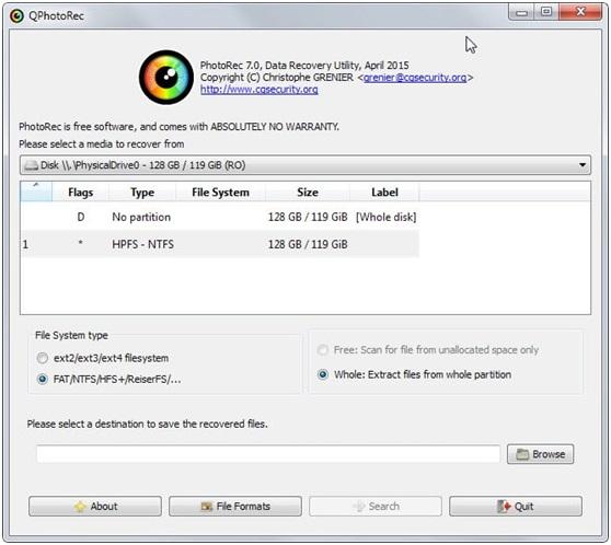 photorec dvd data recovery 7