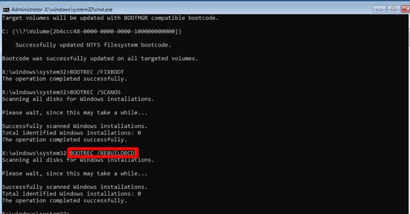 rebuild bcd file