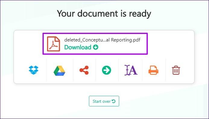 remove pdf with sejda 2