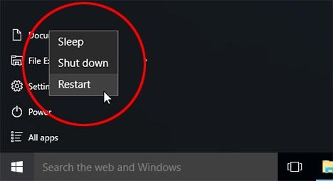 restarting windows