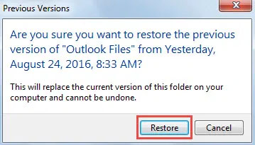 restore from previous version 3