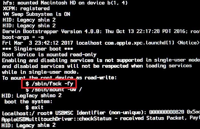 Run a File System Check using [FSCK] command