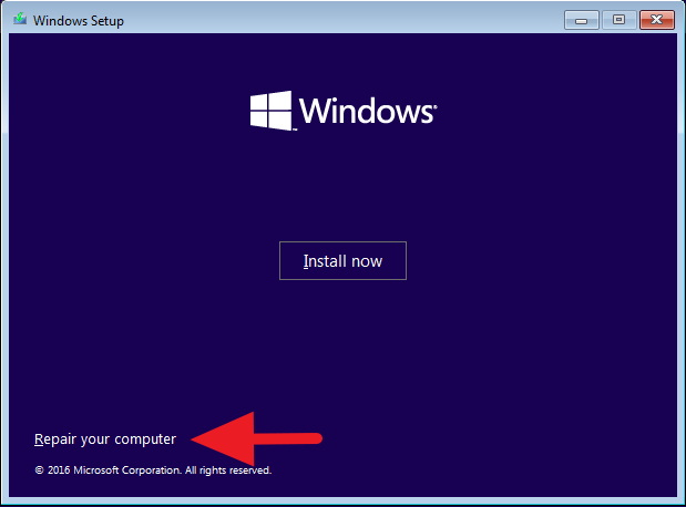 windows 10 automatic repair black screen 10