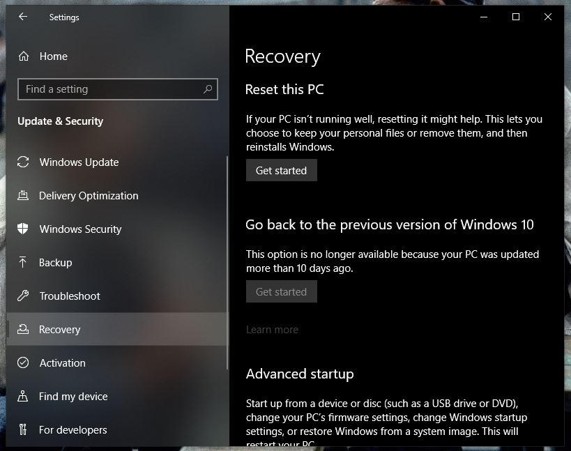 windows 10 black screen with cursor 6