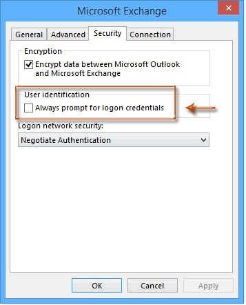 check credentials settings 3