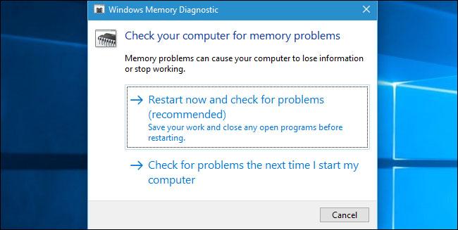memory diagnostic