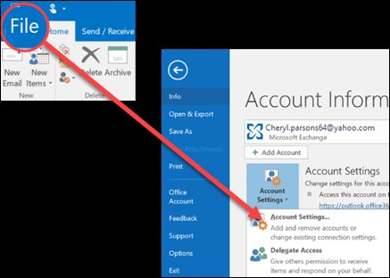 remove add email account 1