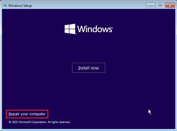 reset acer with installation disk 2