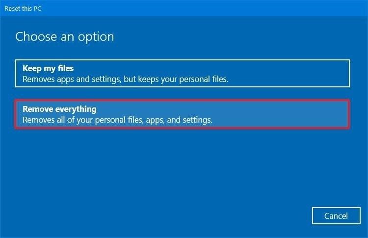 reset windows 10 6