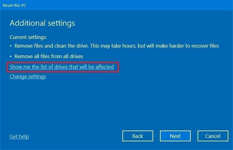reset windows 10 7