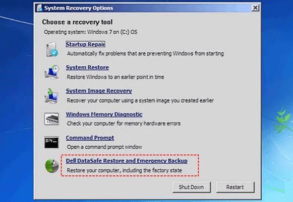 reset windows 7 vista dell 4